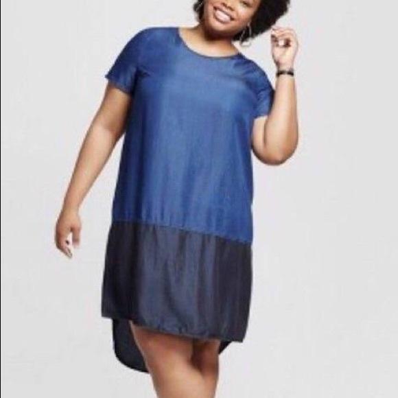 Ava Viv Dresses Sale 100 Lyocell Denim Jean Dress Plus Size